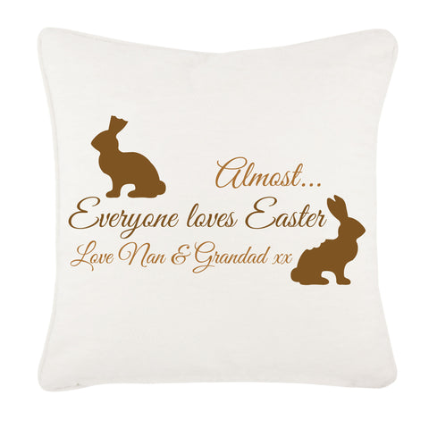 Almost Everyone Loves Easter Bunny Personalised Cushion