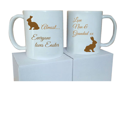EA01 - Personalised Almost Everyone Loves Easter Mug & White Box