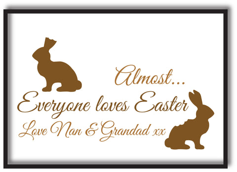 EA01 - Personalised Almost Everyone Loves Easter Print