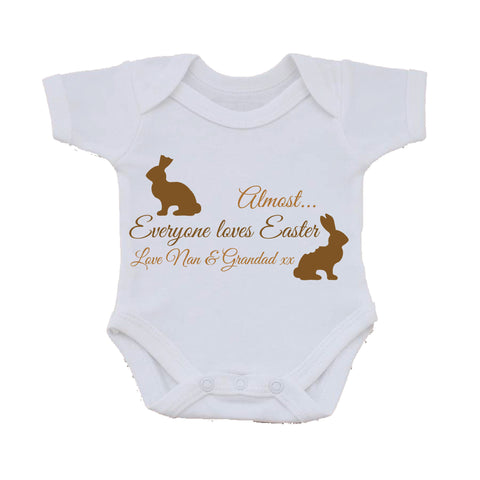 EA01 - Personalised Almost Everyone Loves Easter Baby Vest