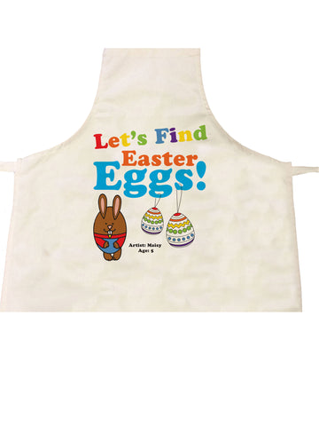 EA03 - Personalised Colouring Easter Eggs Apron