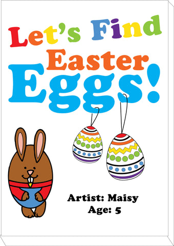 EA03 - Personalised Colouring Easter Eggs Canvas