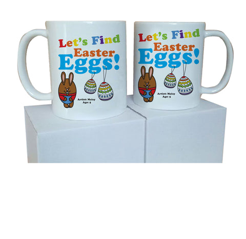 EA03 - Personalised Colouring Easter Egg Mug & White Box