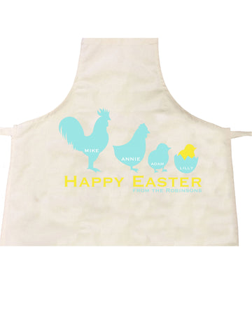 EA04 - Personalised Chicken Family Easter Apron