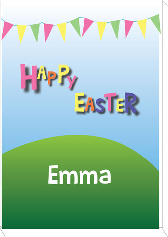 EA05 - Personalised Carnival Easter Canvas