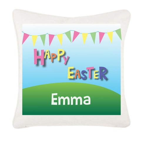 Personalised Carnival Easter Cushion