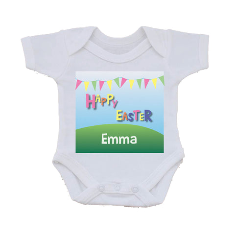 EA05 - Personalised Carnival Easter Baby Vest