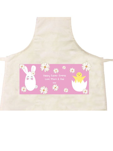 EA08 - Personalised Easter Bunny & Chick Apron