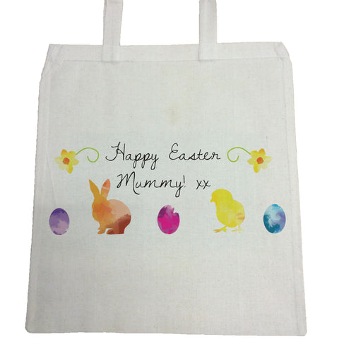 EA09 -  Personalised Aztec Easter Bunny Canvas Bag