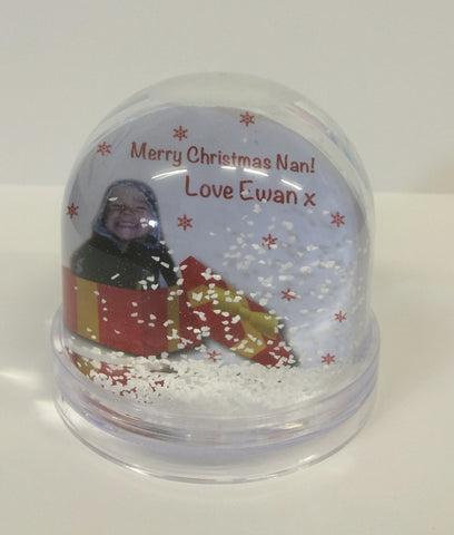 Christmas Themed Personalised Photo Snow Globe