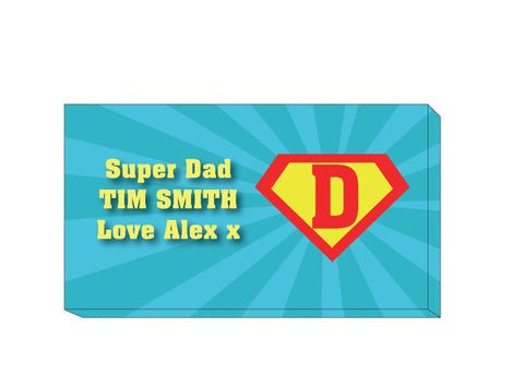 FD10 - Superman and our Dad Personalised Canvas