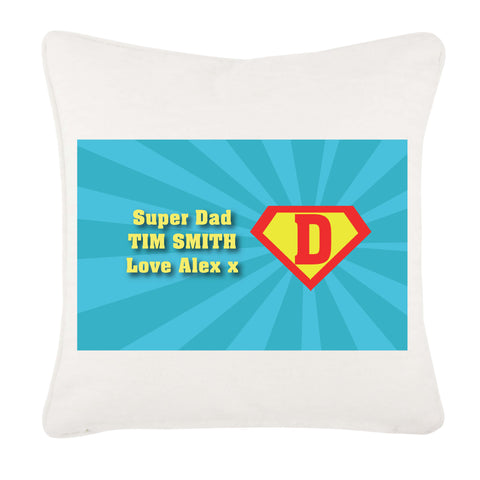 FD10 - Super Dad Personalised Cushion Cover