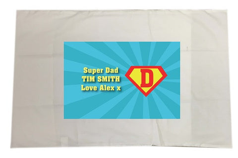 FD10 - Superman and our Dad Personalised White Pillow Case Cover