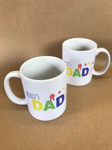 FD12 - World's Best Dad Personalised Mug & White Gift Box