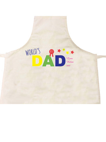 FD12 - World's Best Dad Personalised Apron