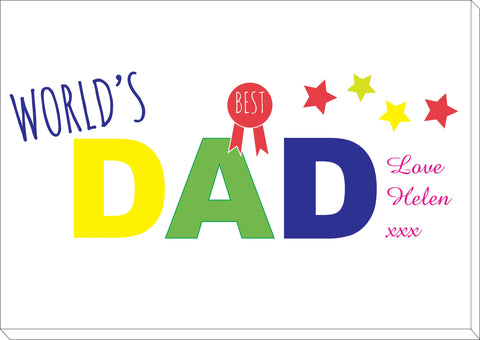 FD12 - World's Best Dad Personalised Canvas