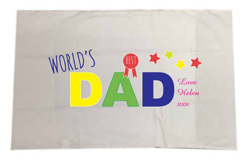 FD12 - World's Best Dad Personalised Pillow Case