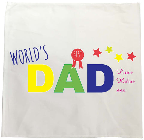 FD12 - World's Best Dad Personalised Tea Towel