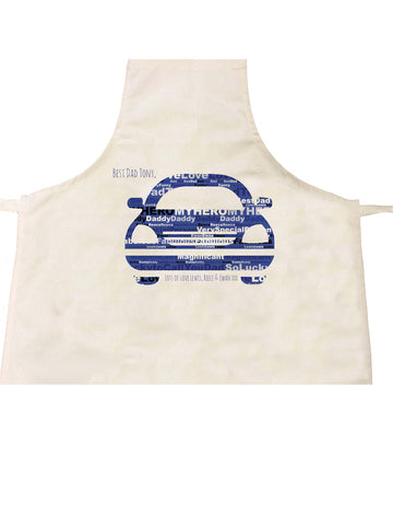 FD13 - Front of Car Word Art Personalised Dad Apron