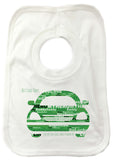 FD13 - Front of Car Word Art Dad Baby Bib
