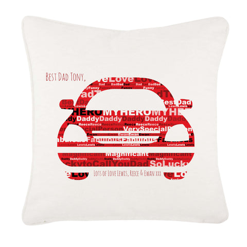 FD13 - Front of Car Word Art Dad Cushion Cover