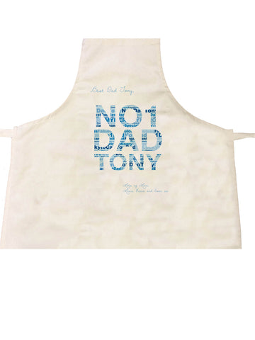 FD14 -No.1 Dad Word Art Personalised Apron