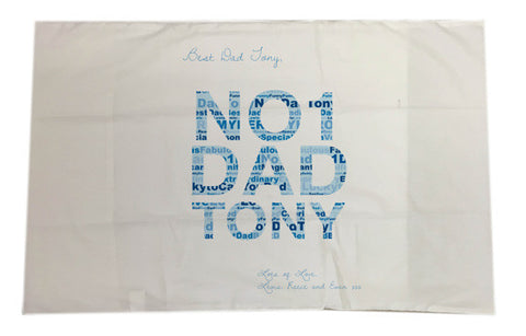 FD14 - No.1 Dad Word Art Personalised Pillow Case