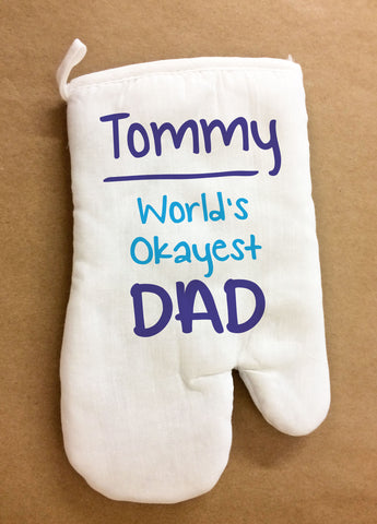 FD18 - World's Okayest Dad Personalised Oven Glove