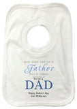 FD01 - Any Man Can Be A Father, Father's Day Personalised Baby Vest