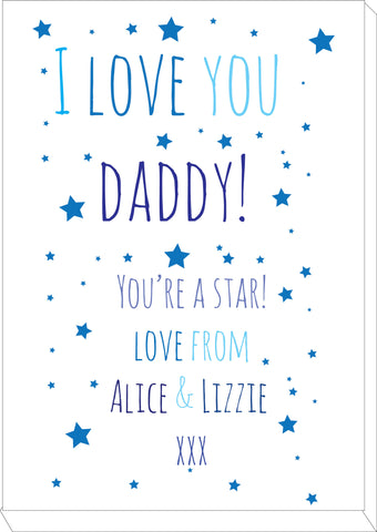 FD03 - I Love You Daddy (Stars), Father's Day Canvas
