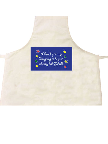 FD04 - Personalised When I Grow Up, Father's Day Apron