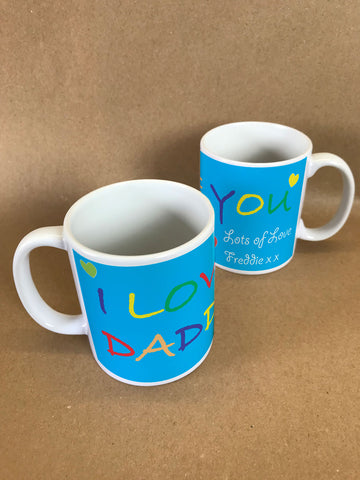 FD05 - I Love You Daddy, Father's Day Mug & White Gift Box