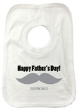 FD06 - Large Moustache Personalised Baby Bib
