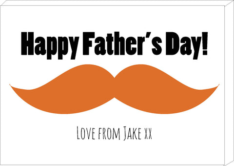 FD06 - Large Moustache Personalised Father's Day Canvas