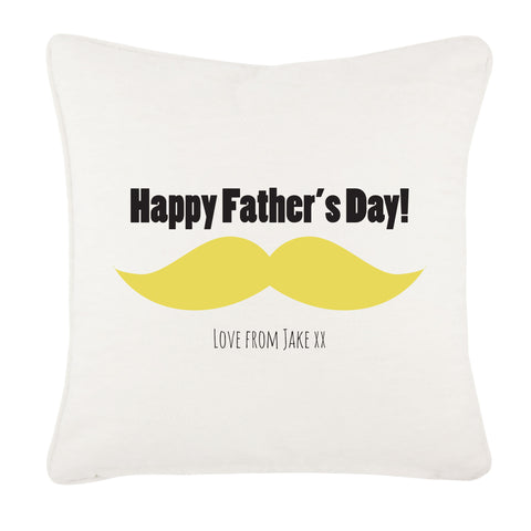 FD06 - Large Moustache Personalised Cushion Cover