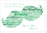 FD07 - Moustache Wordart Personalised Canvas