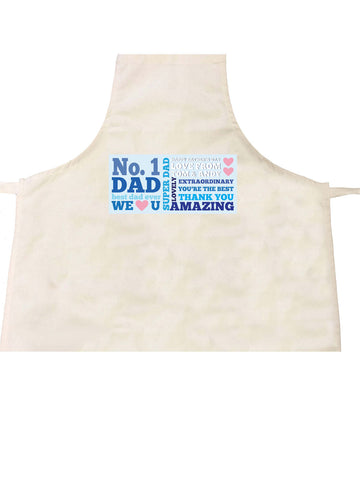 FD08 - Moustache Word Art Personalised Apron