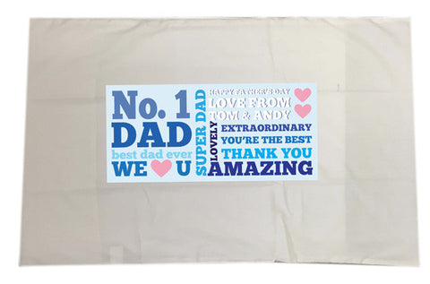 FD08 - No.1 Dad Personalised Pillow Case