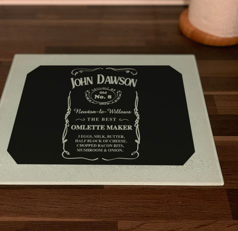 "GCB017 - Personalised Name ""Jack Daniel's"" Chopping Board"