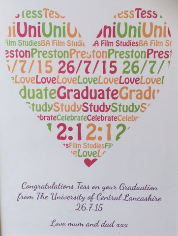 GP02- Graduation Heart Personalised Canvas
