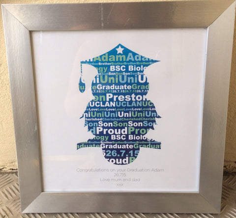 GP01- Graduation Owl Personalised Print