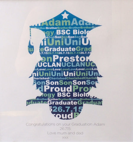 GP01- Graduation Owl Personalised Canvas