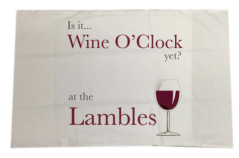 HF05 - Is it Wine O'clock yet? Personalised White Pillow Case Cover