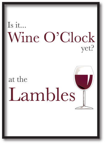 HF05 - Is it Wine O'clock yet? Personalised Canvas Print