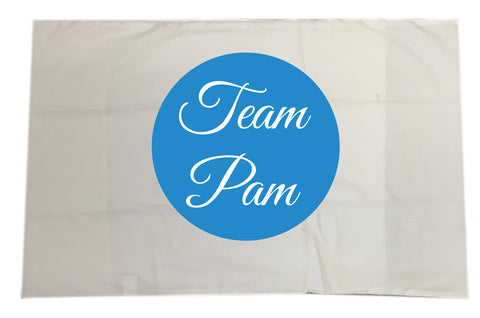 Team Name of Your Choice Personalised White Pillow Case Cover. Change the name to suit.