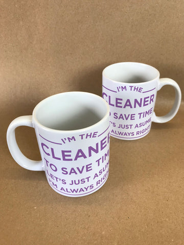 I'm the Cleaner Personalised Mug & White Gift Box