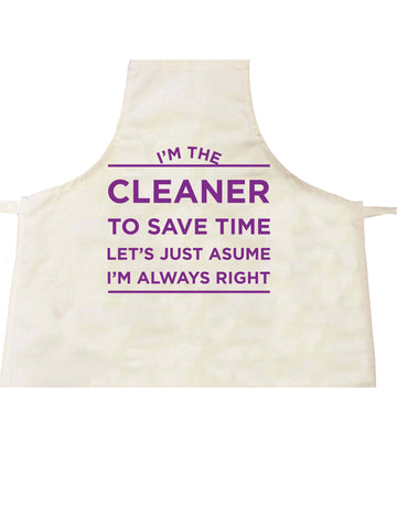 I'm the Cleaner Personalised Apron