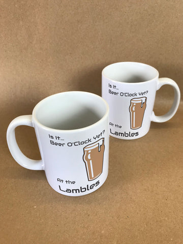 Is It Beer O'Clock Yet? Personalised Mug & White Gift Box
