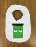 Frankenstein Themed Halloween Warning May Eat Brains Personalised Baby Vest