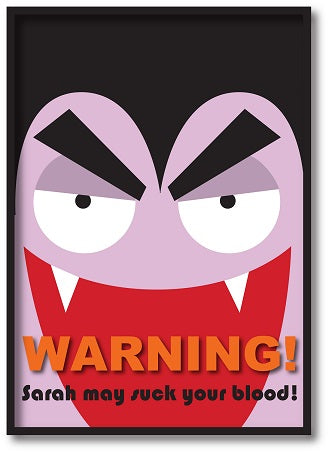 HW001 - Halloween Warning May Contain Treats Personalised Print
